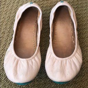 """""""Tieks"""" baby pink ballerina flats"""